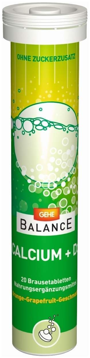 Gehe Balance Calcium + D3 20 Brausetabletten