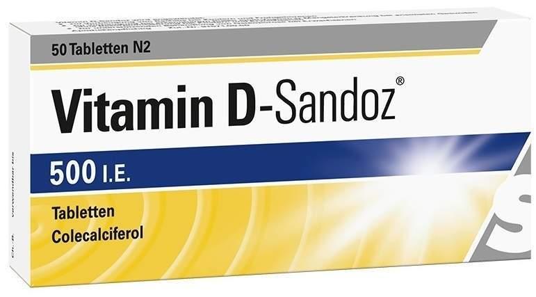 Vitamin D-Sandoz 500 I.E. 50 Tabletten