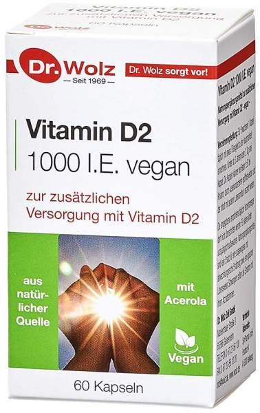 Vitamin D2 1000 I.E. vegan 60 Kapseln