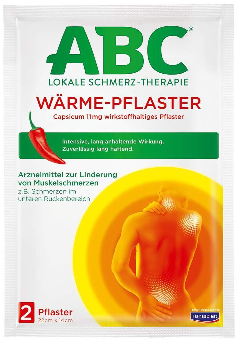 Hansaplast med ABC Wärme Pflaster Capsicum 2 Stück