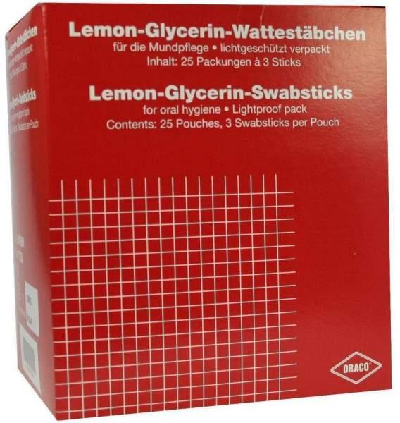 Lemon Glycerin Sticks Mundpflege Wattestäbchen 25 x 3 Stück