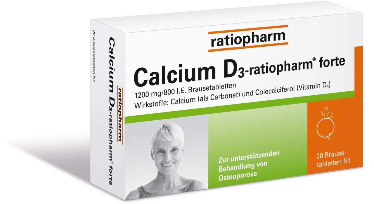 Calcium D3 Ratiopharm Forte 20 Brausetabletten
