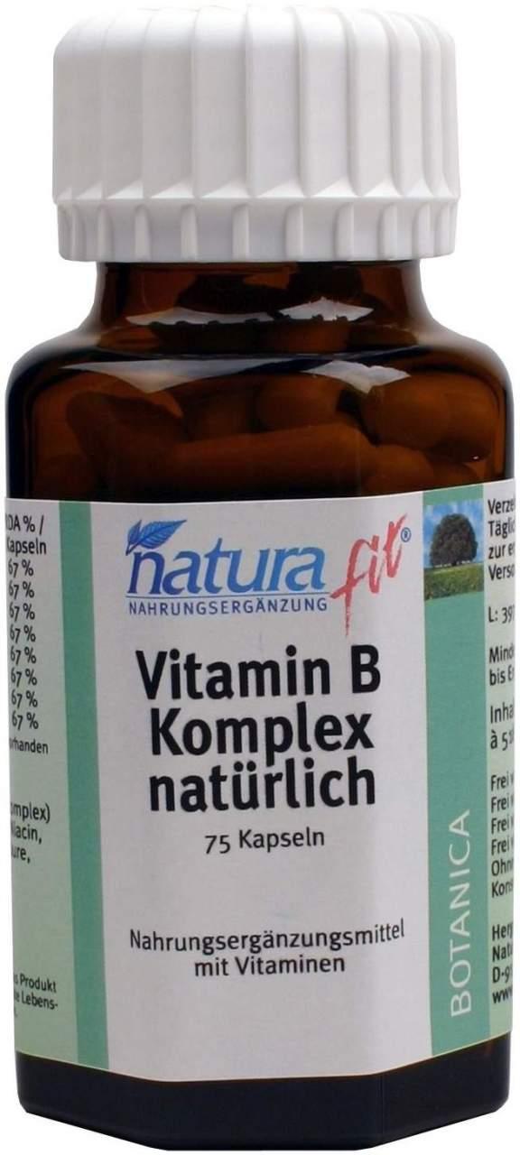 Naturafit Vitamin B Komplex natürlich 75 Kapseln