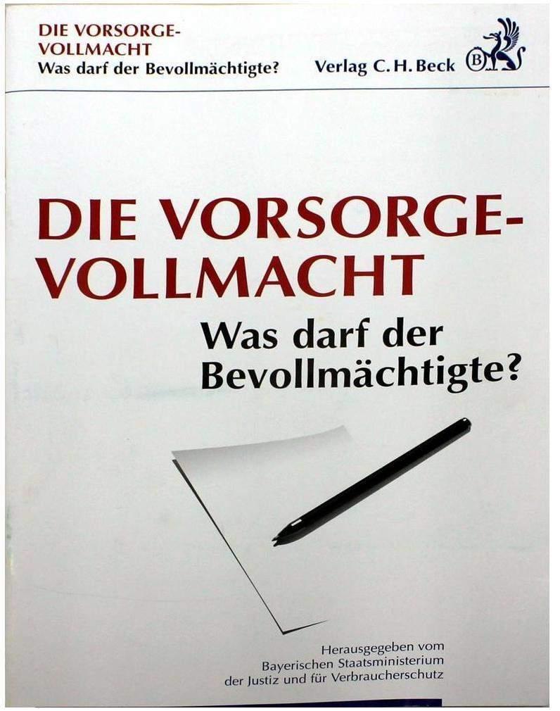Verlag C.H. Beck oHG Verlag C.H.Beck Broschüre Vorsorgevolacht - 1 Stück