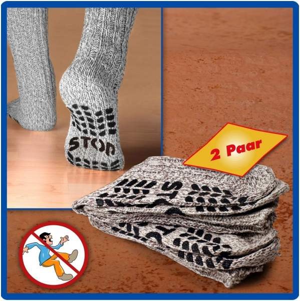 Anti-Rutsch Socken Gr.43-46 2er Set
