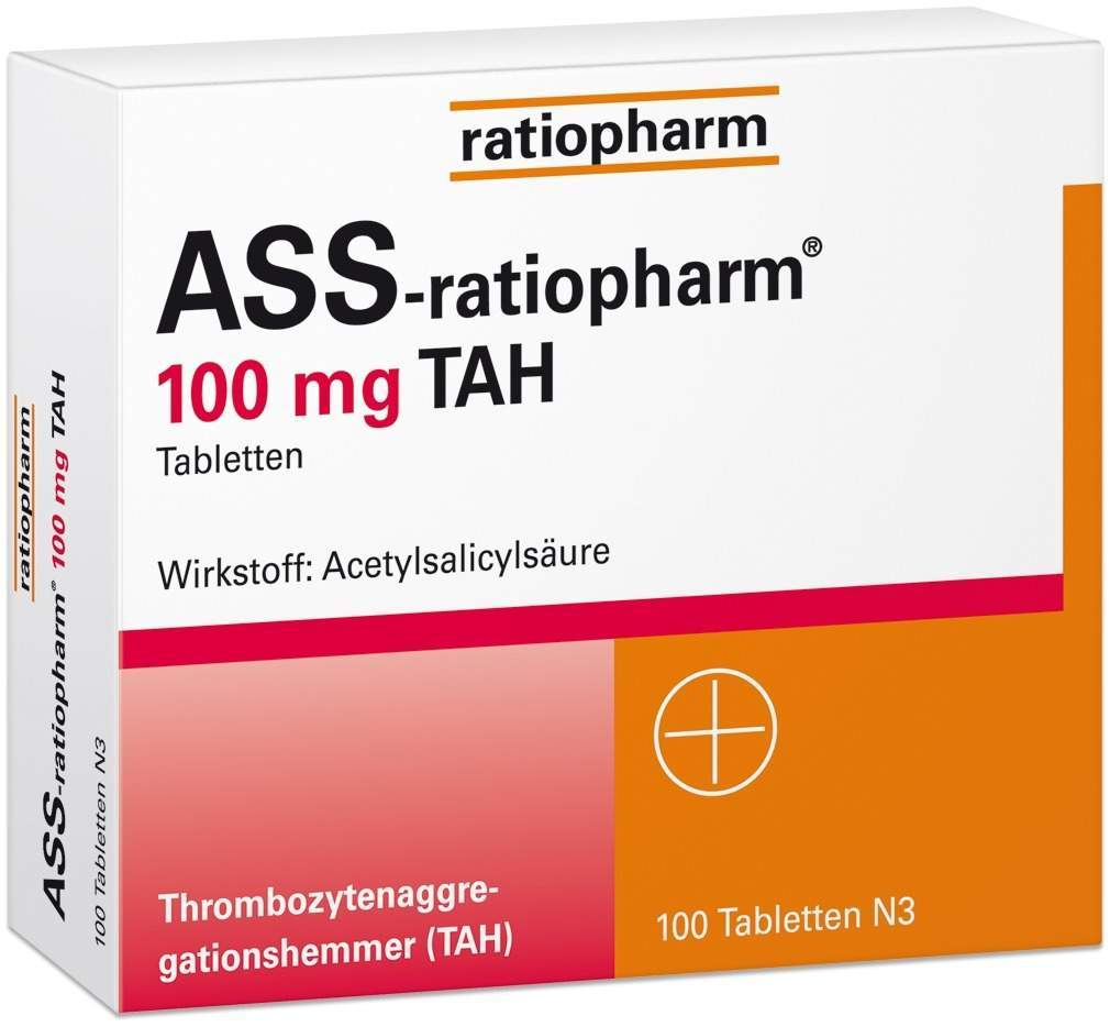 ASS-ratiopharm 100 mg TAH 100 Tabletten
