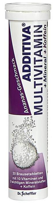 Additiva Multivitamin + Mineral + Coffein 20 Br...