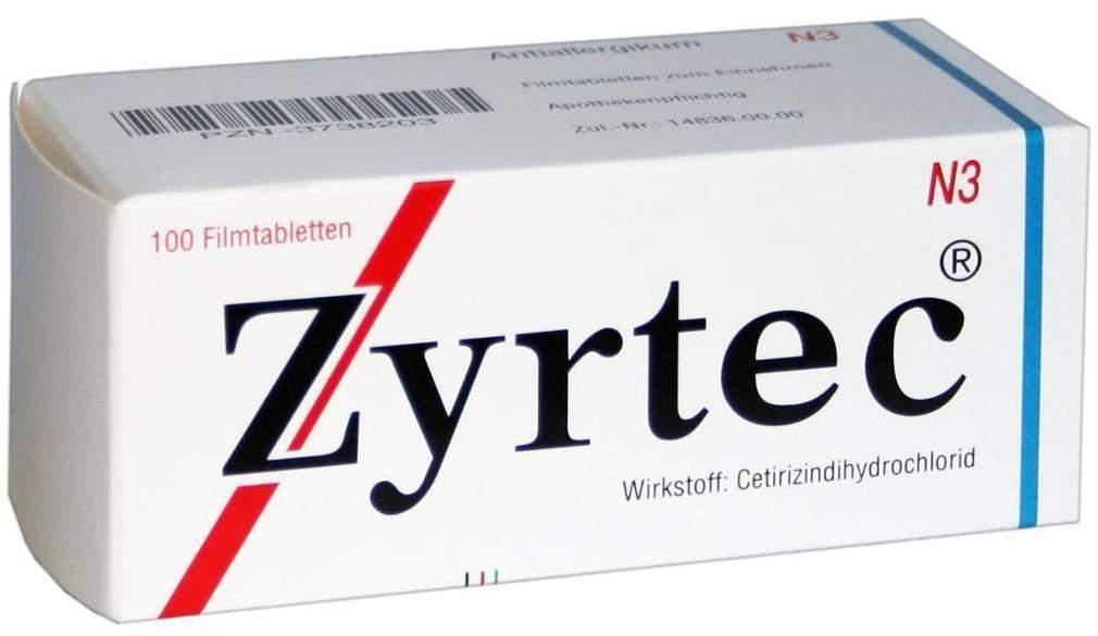 Zyrtec 10 mg 100 Filmtabletten