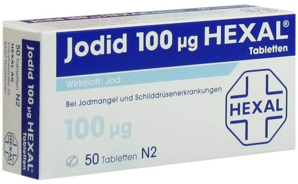 Jodid 100 µg Hexal 50 Tabletten