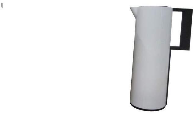 Thermokanne weiß 1 Liter gerade Form