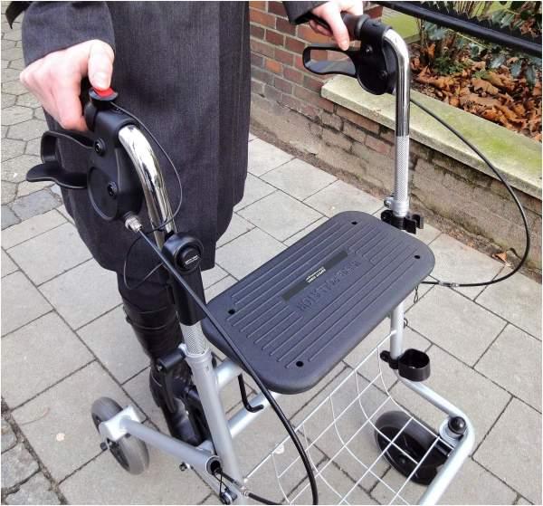 Schutz-Alarm Vorrichtung für Rollator und Gehst...