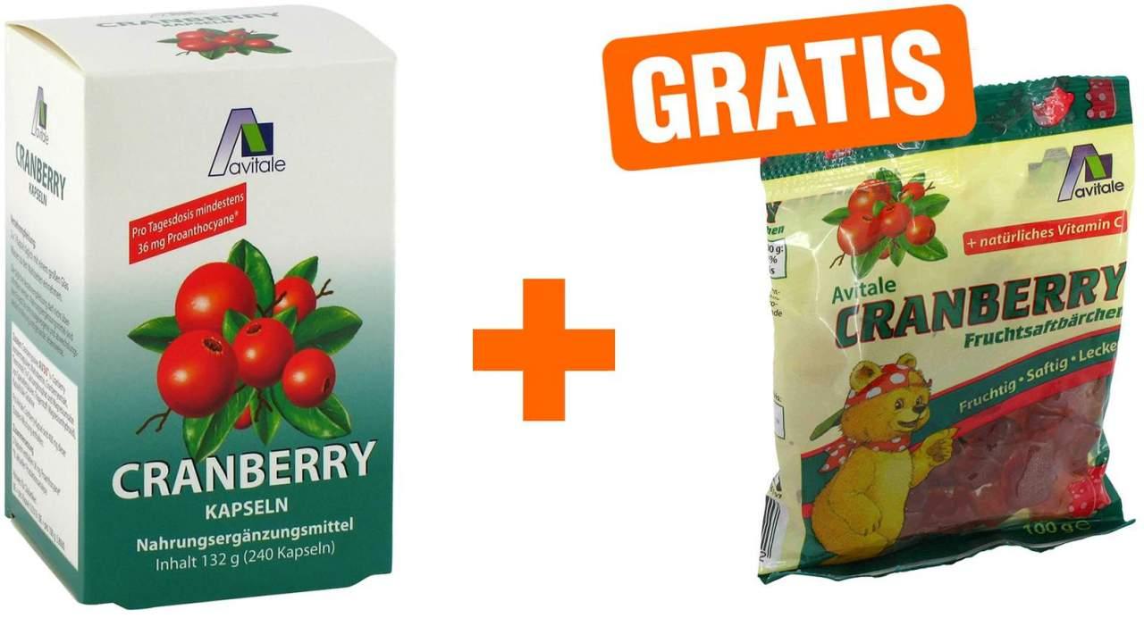 Cranberry 400 mg Kapseln 240 Stück + gratis Fru...
