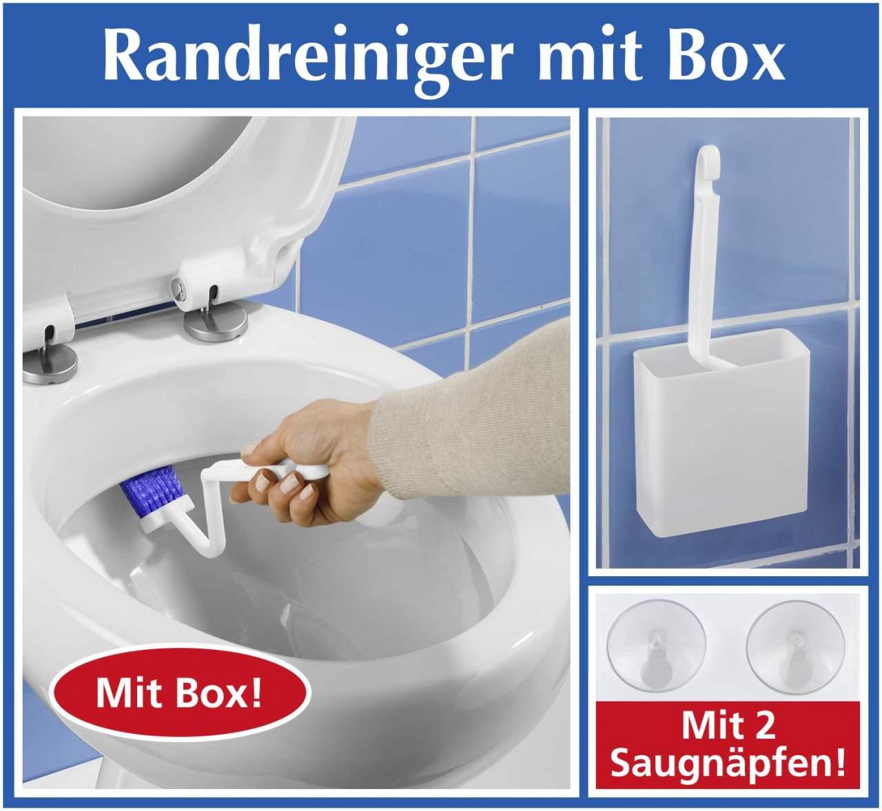 WC-Randreiniger mit Box -