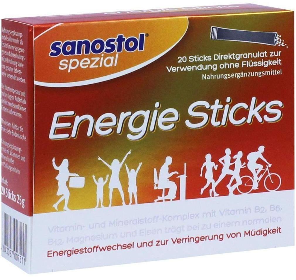 Sanostol Spezial Energie Sticks 20 Granulat