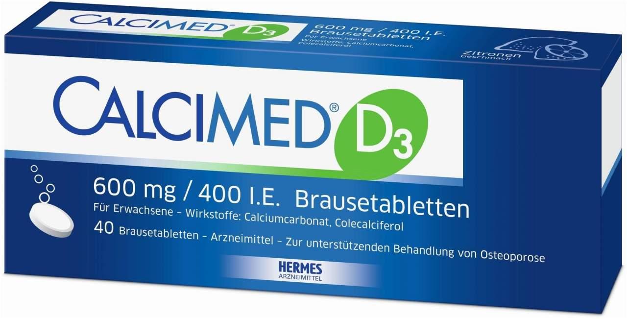 Calcimed D3 600 mg 400 I.E. 40 Brausetabletten