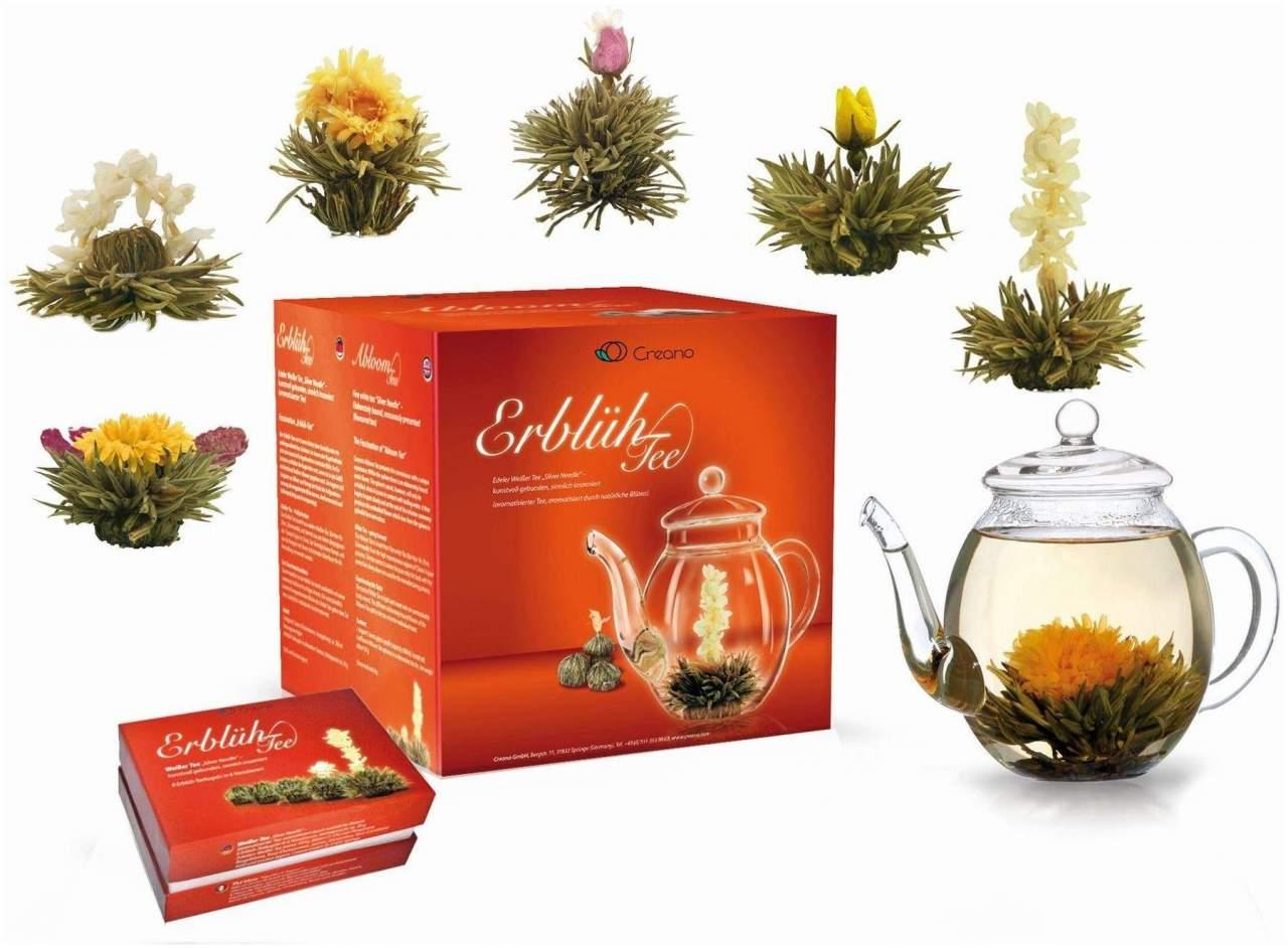 Teeblumen Geschenkset mit Glaskanne 1 Set