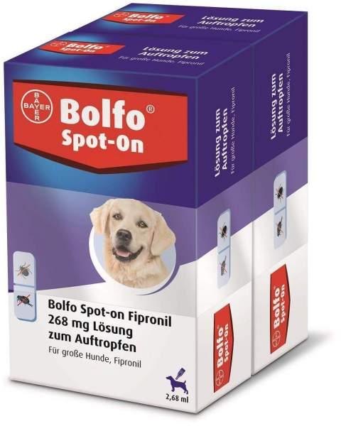 Bolfo Spot On für große Hunde bis 40 kg 2 x 3 P...