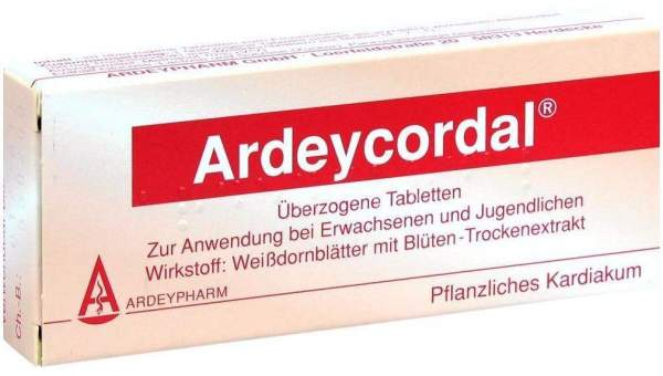 Ardeypharm GmbH Ardeycordal Überzogene Tabletten 20 Überzogene Tabletten - 20 Überzogene Tabletten