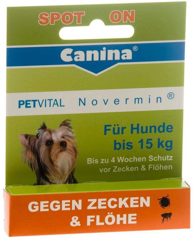 Petvital Novermin flüssig für Hunde bis 15 kg 2 ml