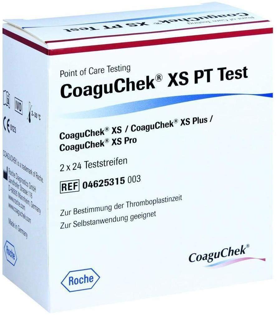 Coaguchek Xs Pt Test 2 x 24 Teststreifen