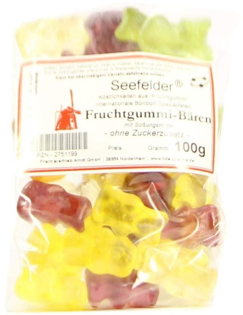 Seefelder Fruchtgummibären Zuckerfrei 100 g Beutel