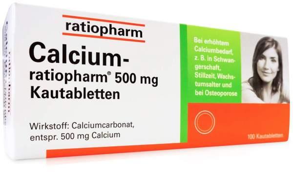 Calcium Ratiopharm 500 mg Kautabletten 100 Kaut...