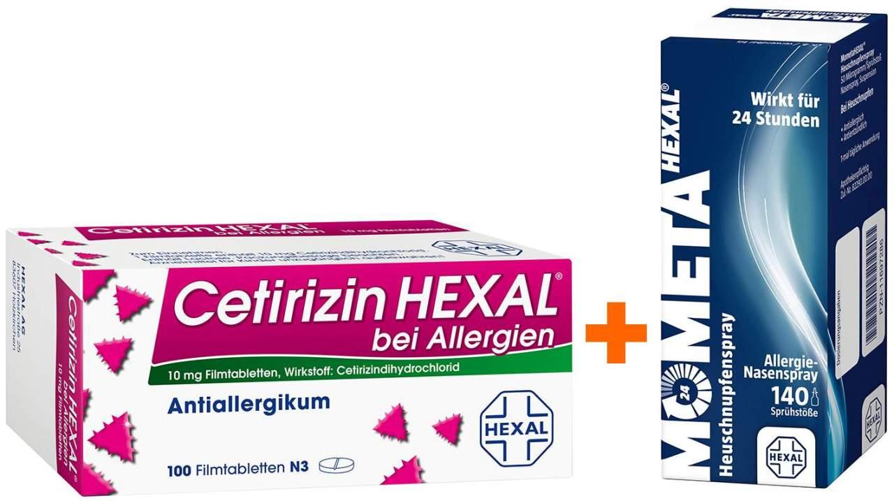 Sparset Allergie Cetirizin Hexal 100 Filmtablet...