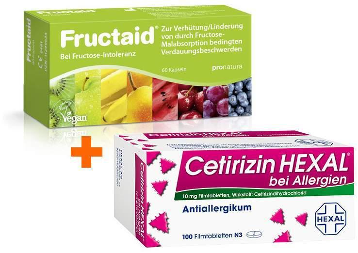 Sparset Fructaid 60 Kapseln + Cetirizin Hexal 1...