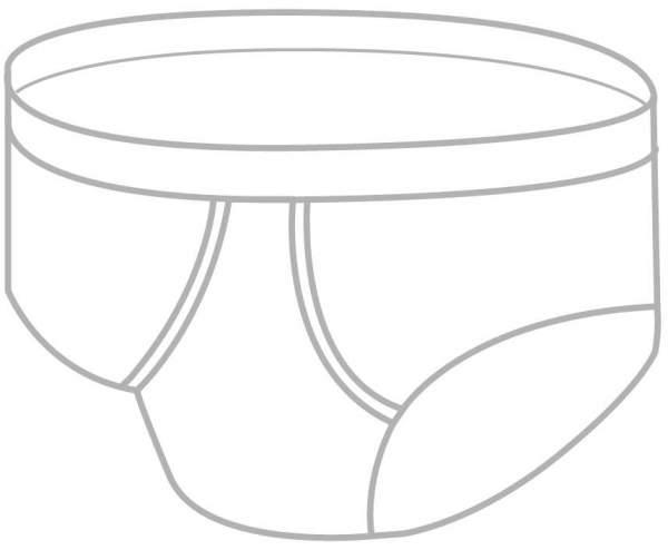 Herren Inkontinenz Slip Größe 8