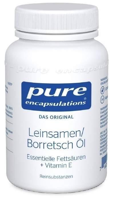 Pure Encapsulations Leinsamen Borretsch Öl 120 Kapseln