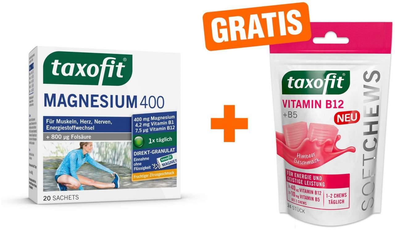 Taxofit Magnesium 400 Direkt 20 Stück + gratis ...