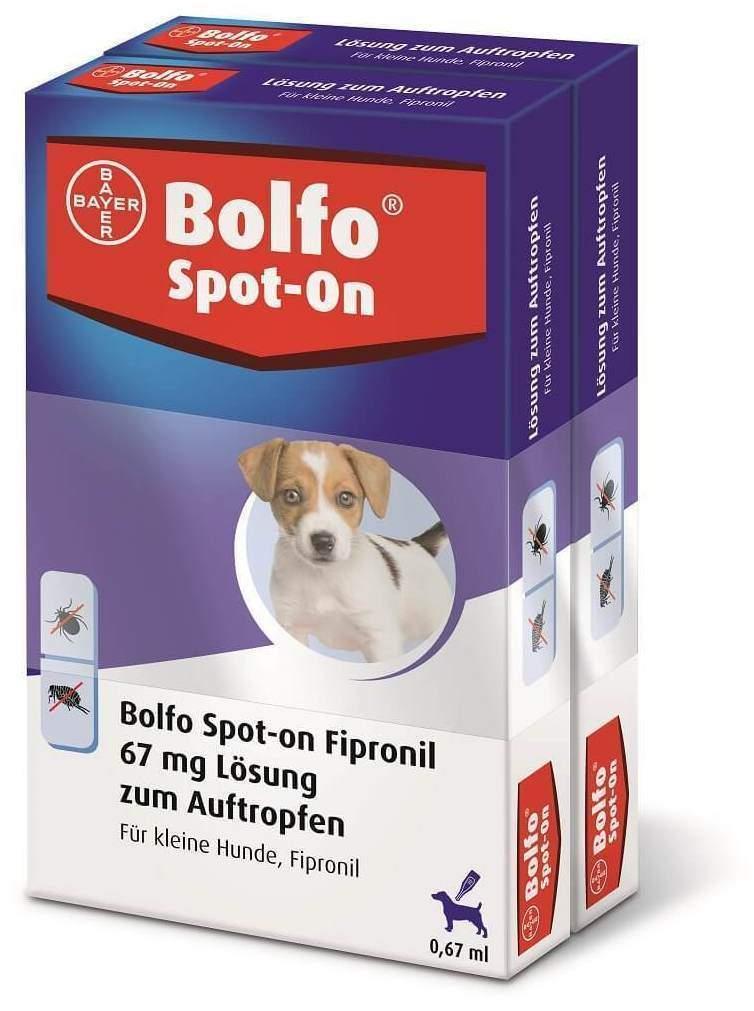 Bolfo Spot On für kleine Hunde bis 10 kg 2 x 3 ...
