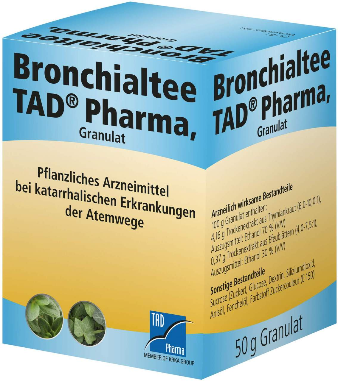 Bronchialtee TAD Pharma 50 g Granulat