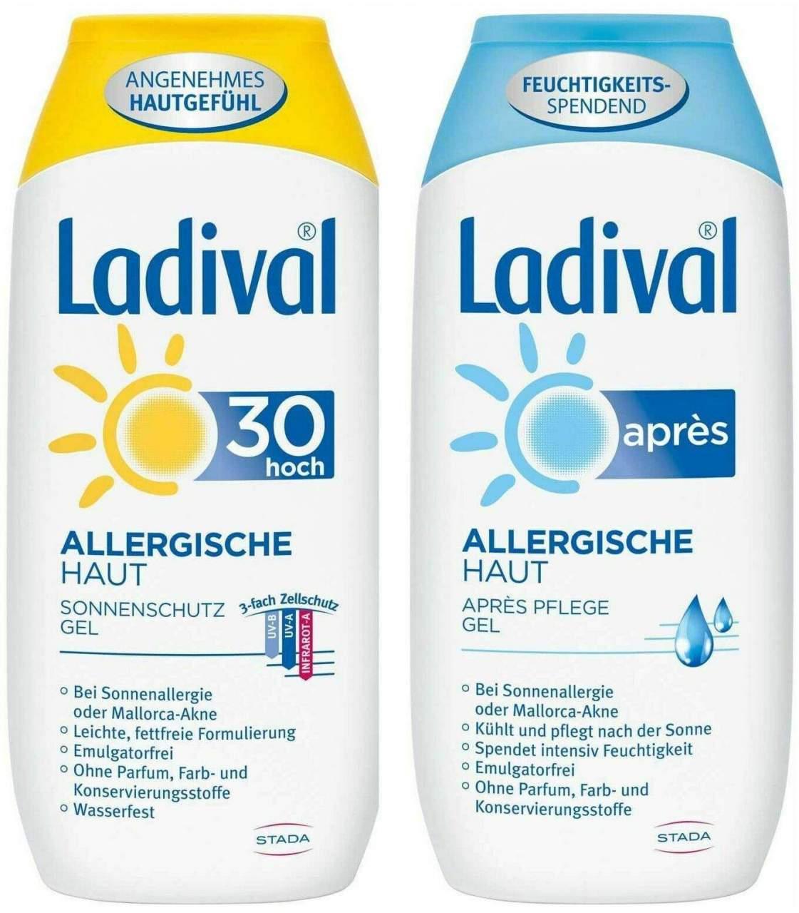 Sparset Sonnenschutz Ladival allergische Haut G...