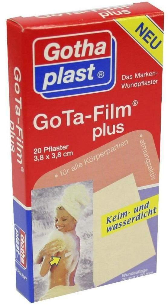Gota Film Plus 3,8 X 3,8 cm Pflaster 20 Pflaster - 20 Pflaster