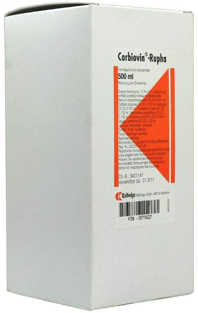 Corbiovin Rupha 500 ml Liquidum