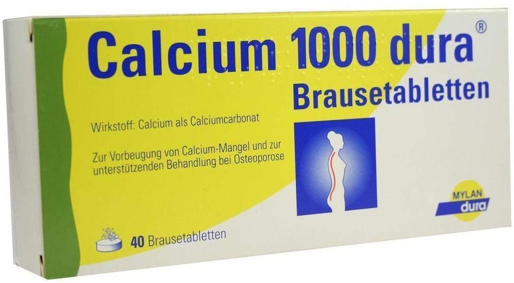 Calcium 1000 Dura Brausetabletten 40 Brausetabl...