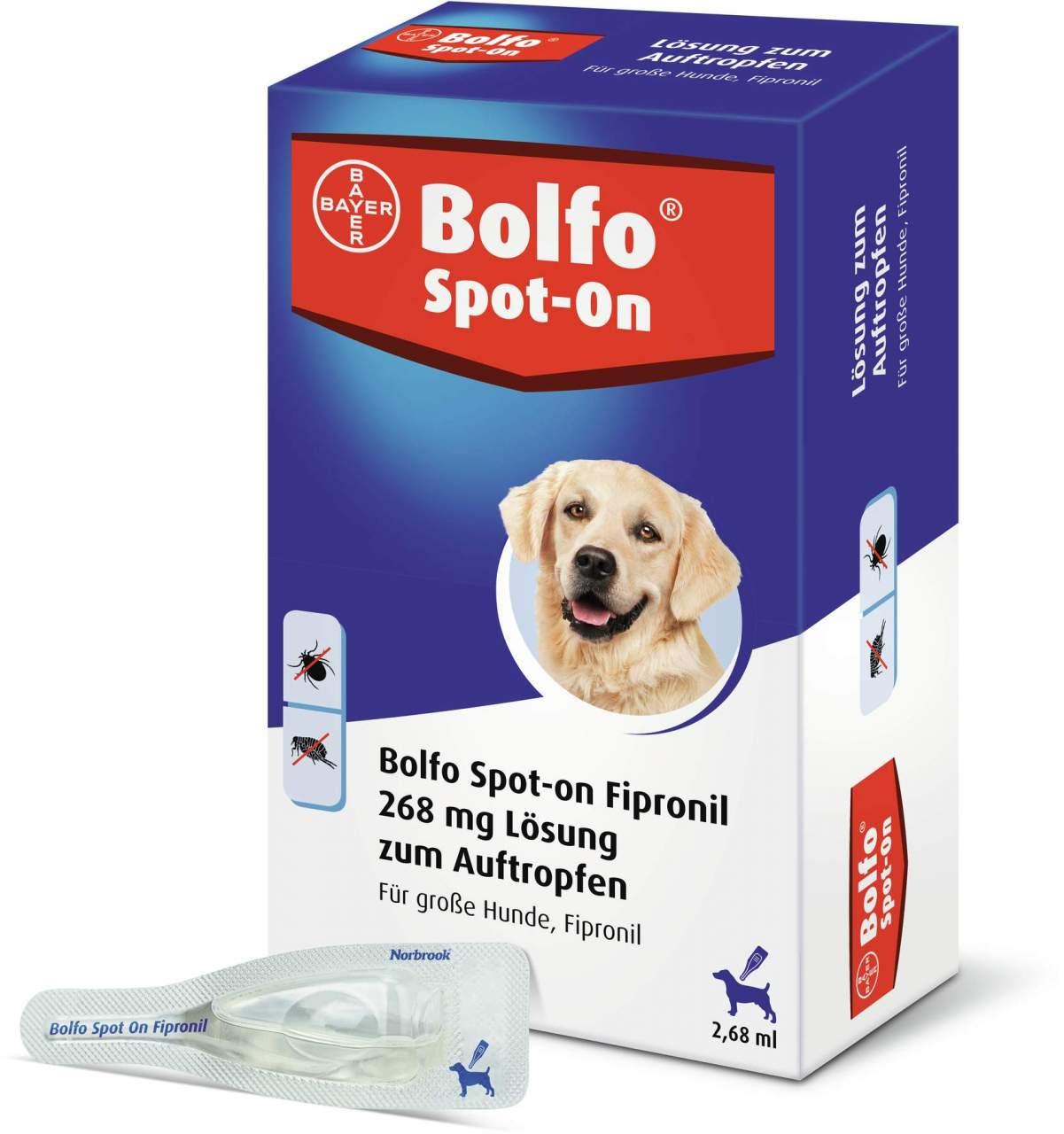 Bolfo Spot On für große Hunde bis 40 kg 3 Pipetten