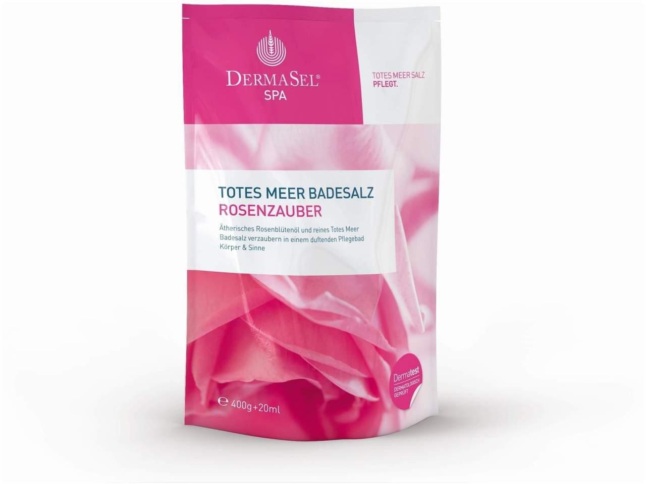 Totes Meer Badesalz und Rosenöl Bad Blütenzaube...