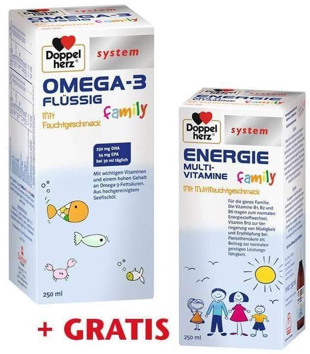 Doppelherz Omega 3 family flüssig system 250 ml...
