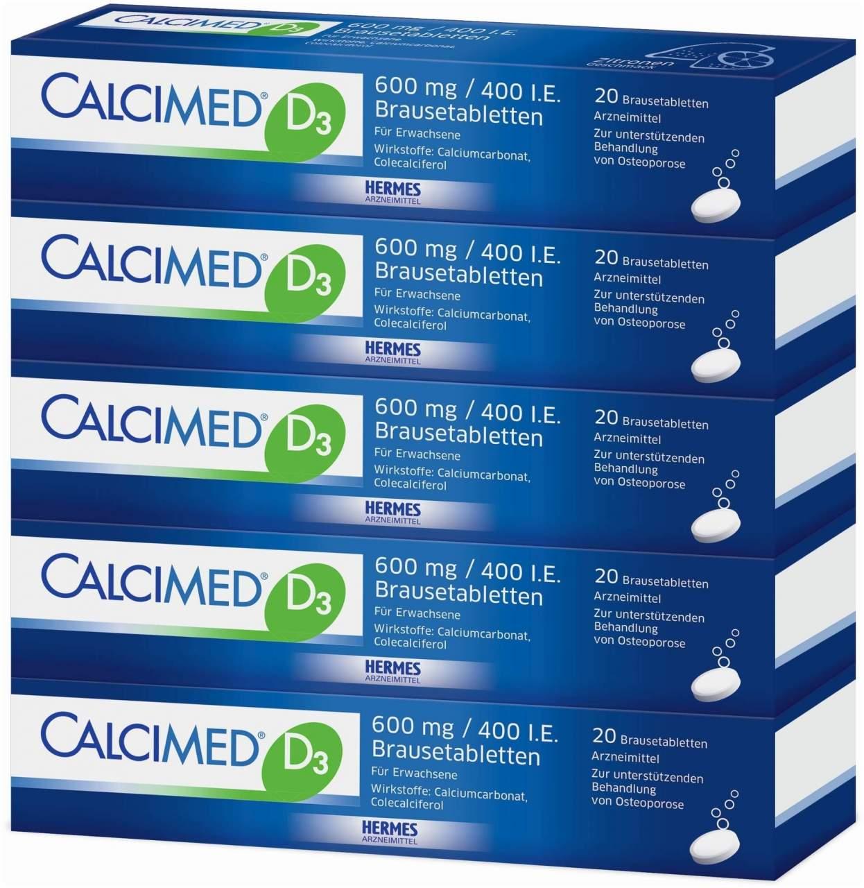 Calcimed D3 600 mg 400 I.E. 100 Brausetabletten