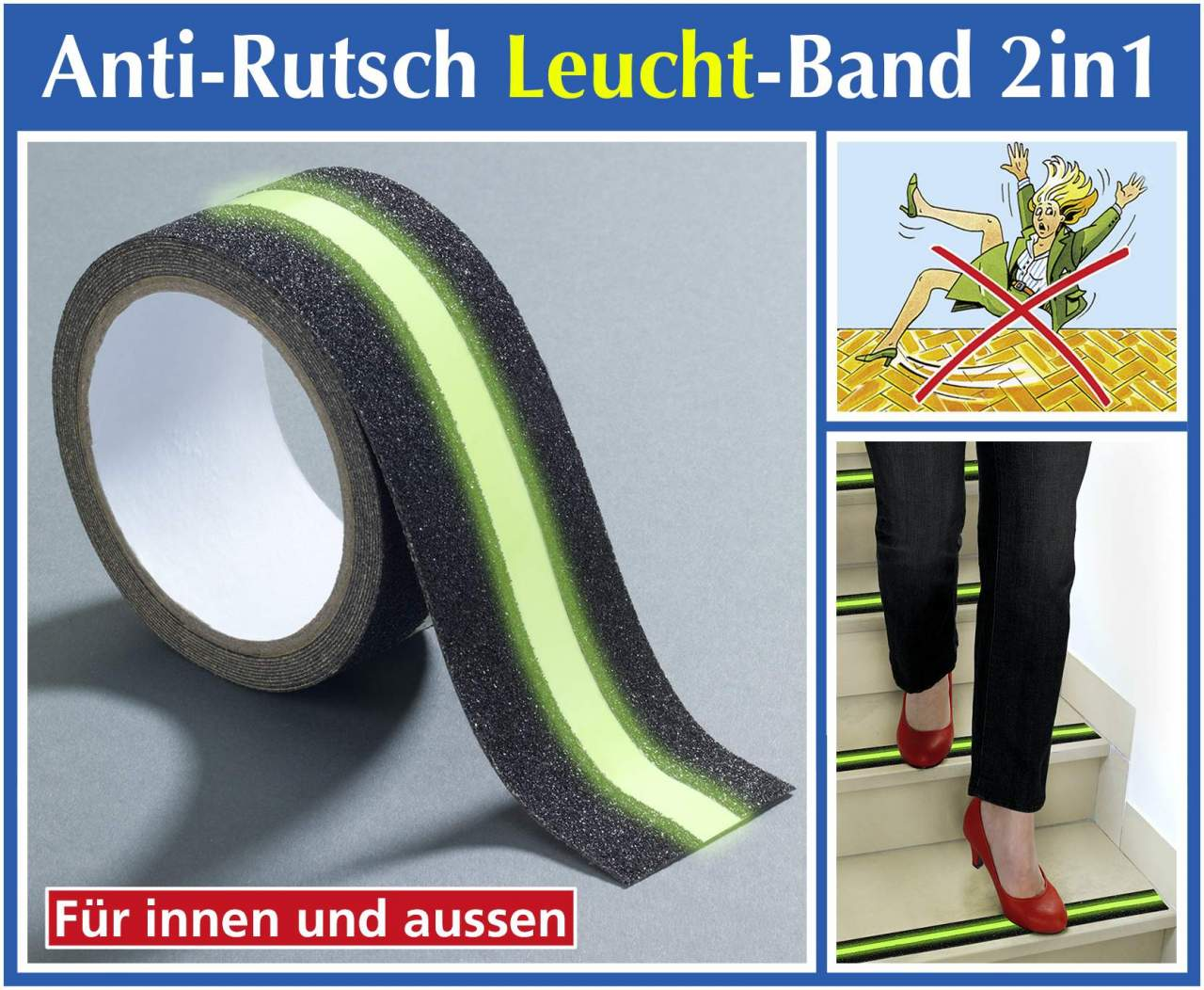 Anti-Rutsch-Leuchtband 2 in 1
