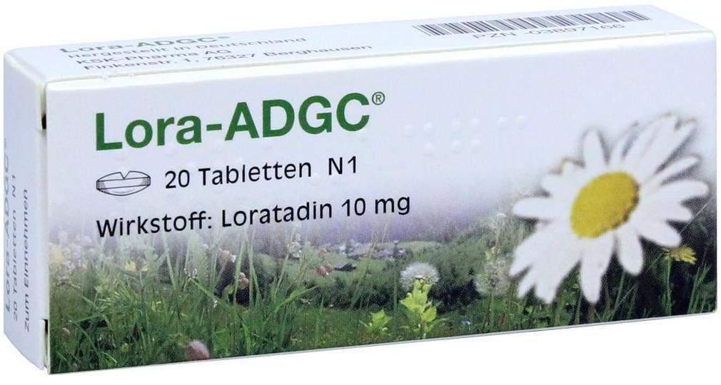 Lora-ADGC Antiallergikum 20 Tabletten