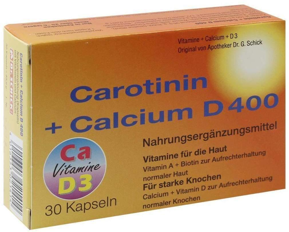 Carotinin + Calcium D 400 30 Kapseln