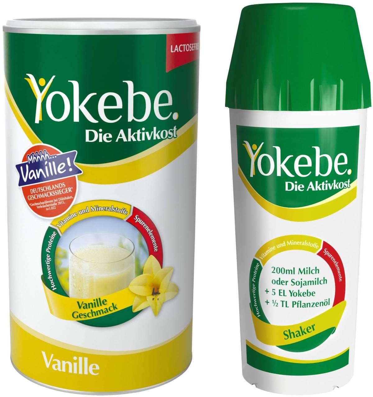 Yokebe Lactosefrei Vanille mit Shaker 500 g Pulver