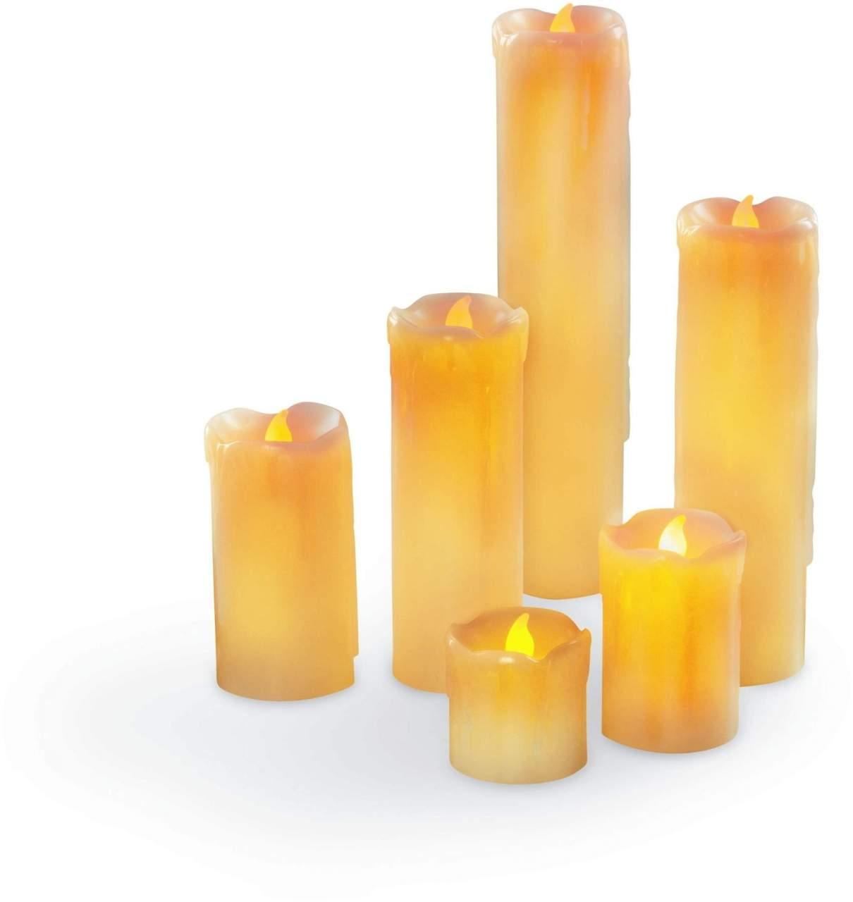 Candelemaxx LED- Echtwachskerzen 6er Set