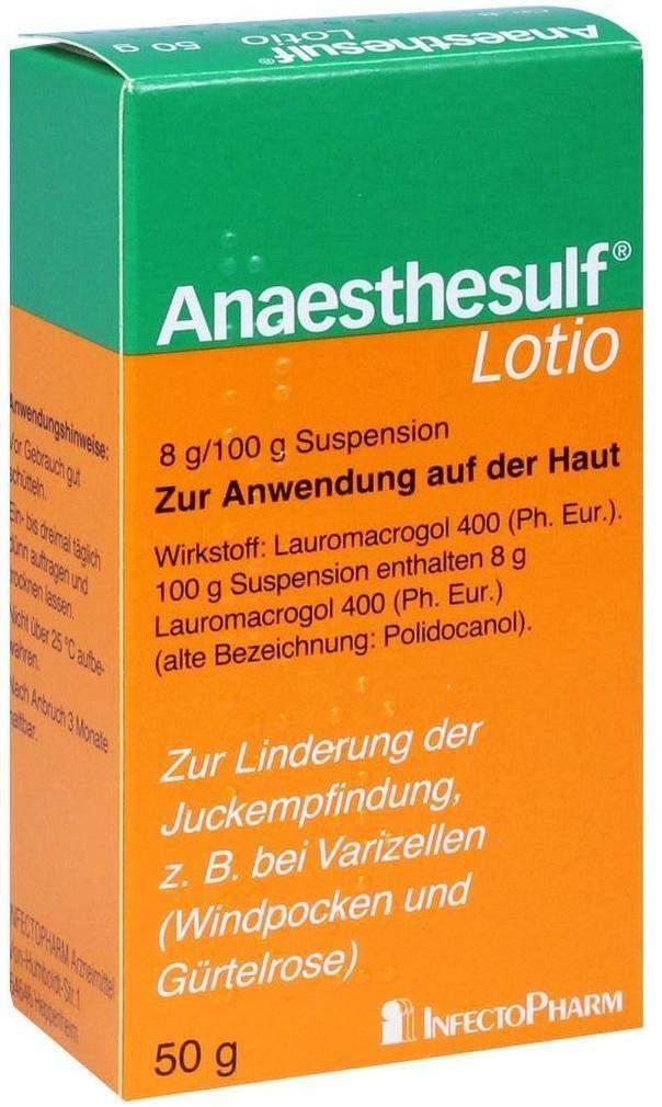 Anaesthesulf Lotio 50 g bei Nässenden Hauterkra...