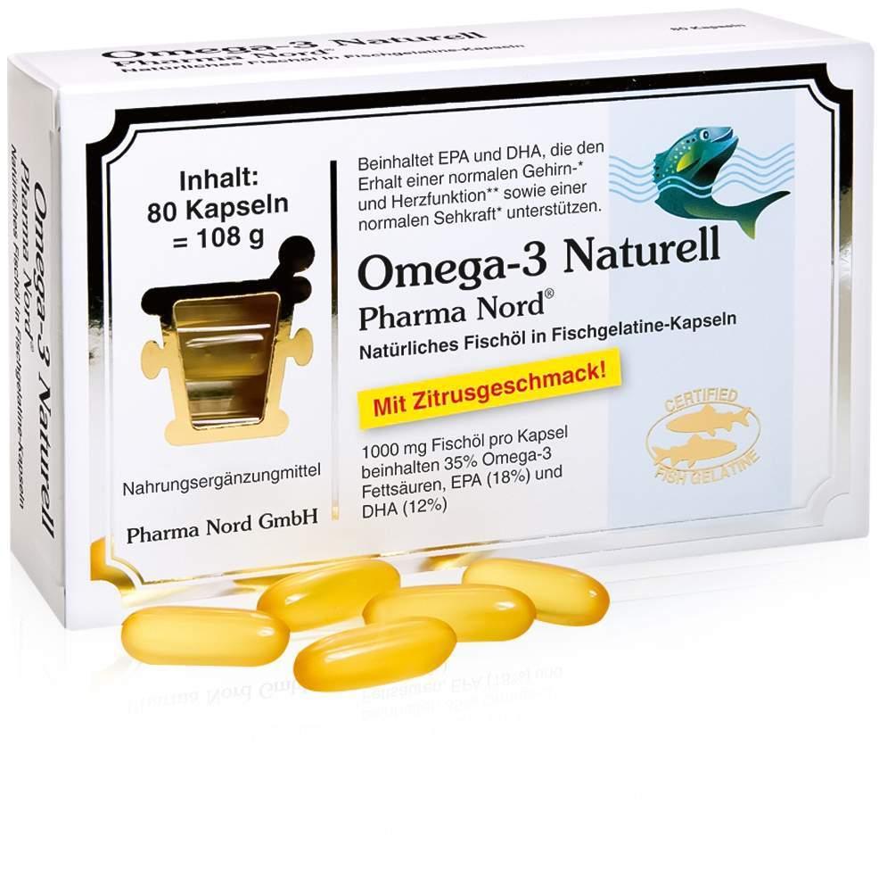 Omega 3 Naturell Pharma Nord 80 Kapseln