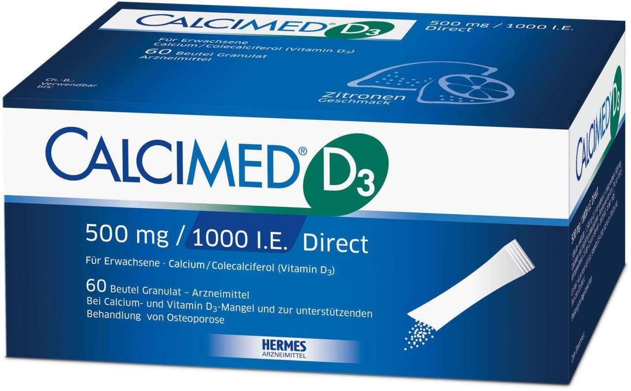 Calcimed D3 500 mg - 1000 I.E. Direct Granulat ...