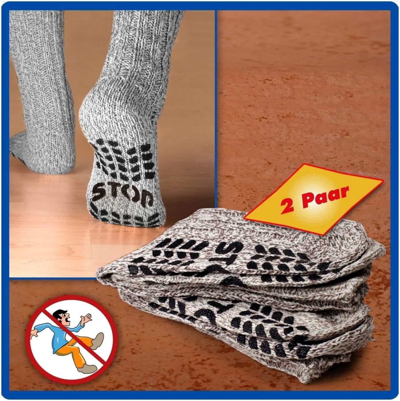 Anti-Rutsch Socken Gr.43-46 2er Set